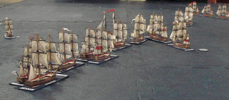 "A game of ""Admirals"" in progress"